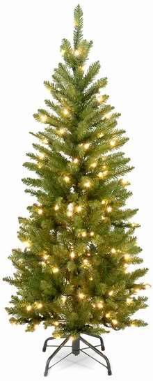 白菜价!历史新低!National Tree 3/4.5英尺圣诞树+50/150小灯套装2折 12.58-20.91加元清仓!
