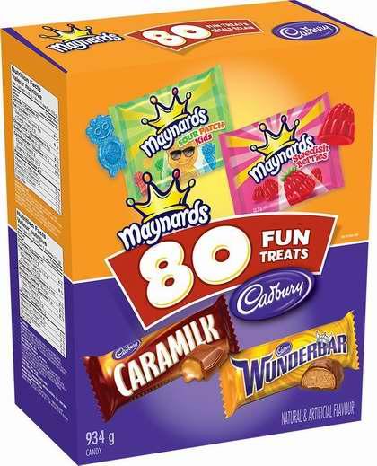 历史新低!Cadbury & Maynards 吉百利 万圣节巧克力糖果80支装7.5折 11.97加元!