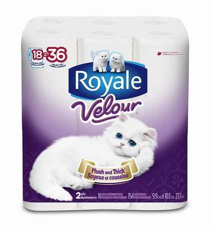 历史最低价!Royale Velour 双层卫生纸18卷5折 6.7加元!
