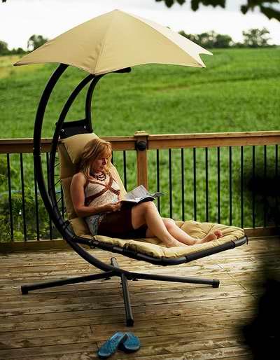 历史新低!Vivere The All Weather 户外带遮阳伞休闲躺椅4折 219.42加元包邮!