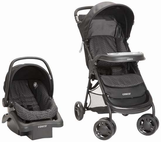 历史新低!Cosco 01119CDFL Lift and Stroll Plus 婴儿推车+婴儿提篮旅行套装 159.97加元包邮!