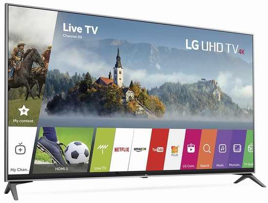 历史新低!LG UJ7700 Super UHD 55寸/65寸 4K超高清智能电视5.3折 899.99-1449.98加元包邮!