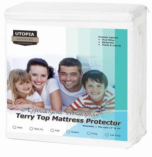 Utopia Bedding 防过敏尘螨 Queen/King 床垫保护套 19.99加元!