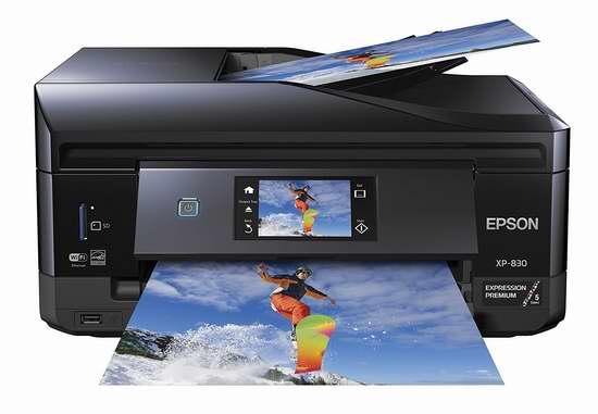 历史最低价!Epson 爱普生 XP-830 无线多功能彩色喷墨打印机4折 79.91加元包邮!