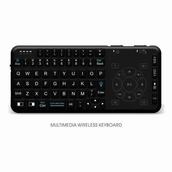 Rii i15 .4GHz 触摸板无线多媒体迷你背光键盘 18.69加元限量特卖!