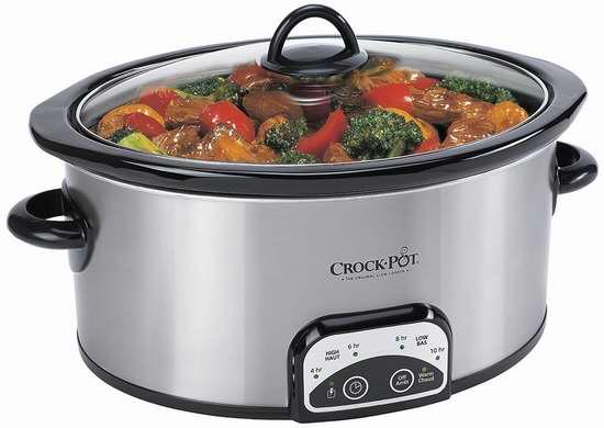 历史新低!Crock-Pot 4夸脱可编程不锈钢慢炖锅5折 22.88加元!