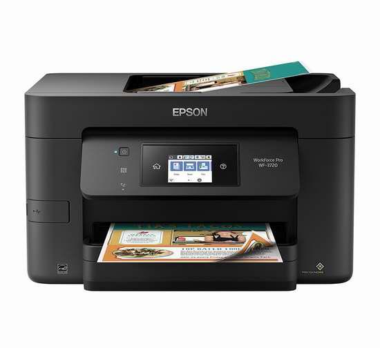 历史最低价!Epson 爱普生 WorkForce Pro WF-3720 无线多功能彩色喷墨打印机6折 89.96加元包邮!