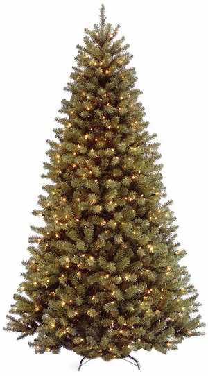 历史新低!National Tree 7.5英尺圣诞树+550小灯套装3.3折 76.09加元包邮!