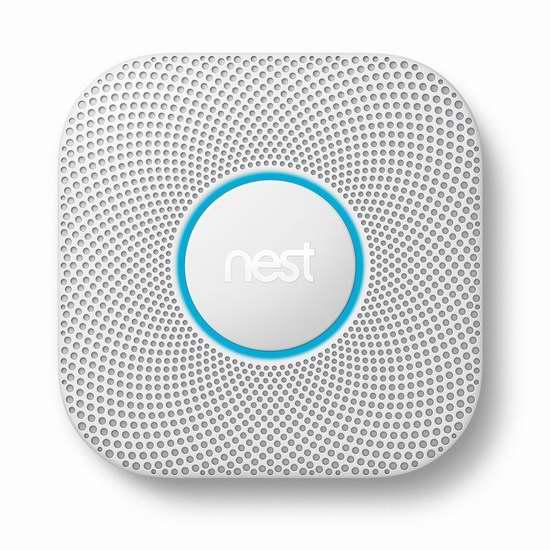 销量冠军!Nest Protect 一氧化碳/烟雾 第二代家用智能探测报警器 119加元包邮!