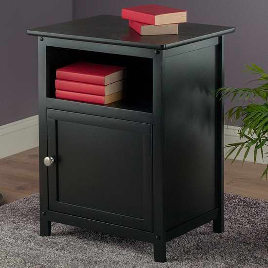 历史新低!Winsome Wood 黑色床头柜/茶几 54.08加元包邮!