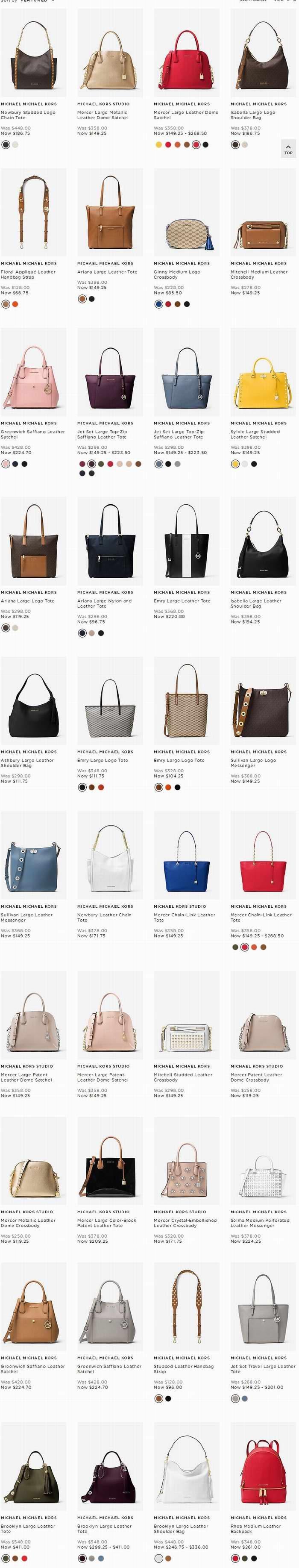 Michael Kors 美包、美衣、美鞋、首饰特卖+额外7.5折!折后低至3折!部分新款也打折!