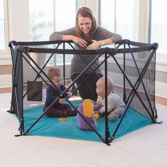 历史新低!Summer Infant Pop 'N Play 终极版便携式婴儿室内/室外游戏围栏4.9折 58.79加元包邮!