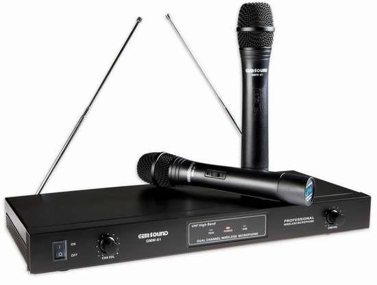 历史新低!GemSound GMW-61 专业无线麦克风系统/卡拉OK无线话筒4.2折 33.14加元清仓!