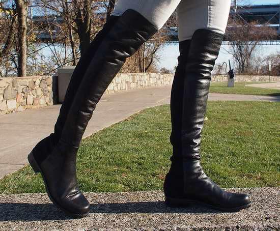 Stuart Weitzman 5050 女式时尚平底过膝长靴(6码)4.2折 359.87加元包邮!
