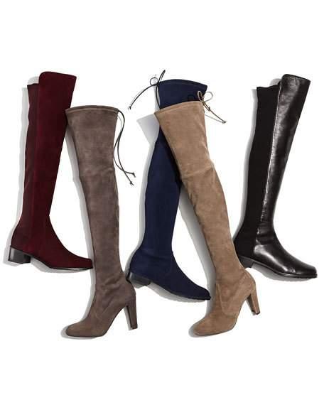 明星爆款 Stuart Weitzman 5050 女式时尚平底过膝长靴(7.5码、9码)5.8折 493.78加元包邮!