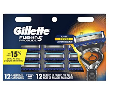 Gillette 吉列 Fusion5 突破剃须刀 刀头12件套 37.25加元,原价 56.99加元,包邮
