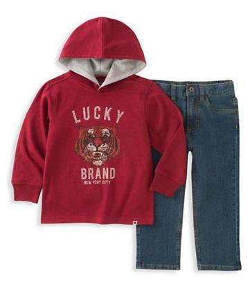 精选LUCKY BRAND儿童卫衣套装 21.99加元起特卖!