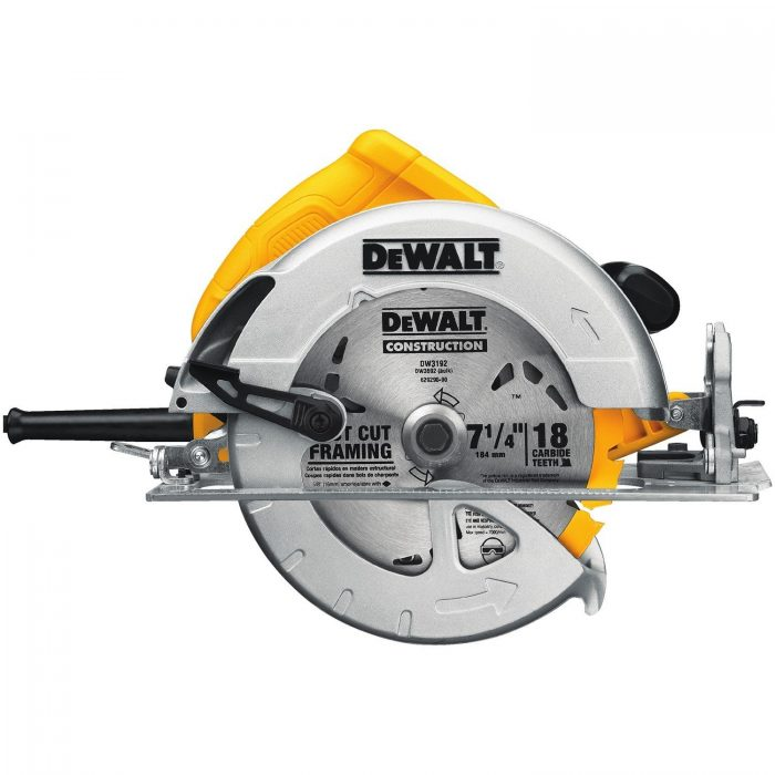 DEWALT DWE575 专业木工轻型带电刹电动圆锯 85.99加元,原价 119.95加元,包邮