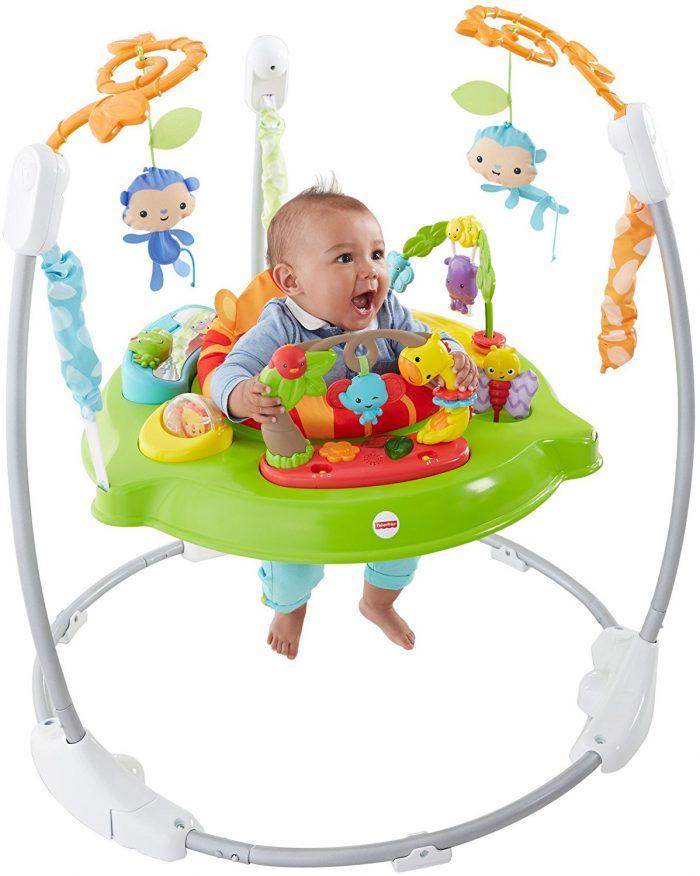 Fisher-Price Roarin' Rainforest 折叠式跳跳椅 74.87加元,原价 149.99加元,包邮