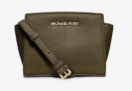 Michael Kors Selma 橄榄色 迷你耳朵包 134.25加元,原价 198加元,包邮