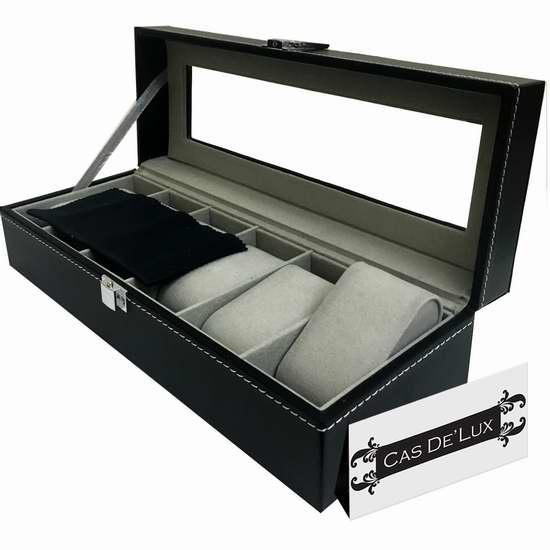 历史最低价!Cas De' Lux 豪华手表收纳盒3折 14.99加元!
