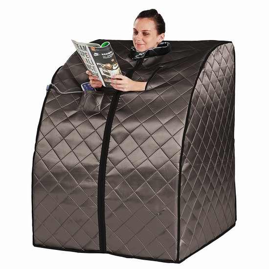 近史低价!Radiant Saunas Rejuvenator 便携式远红外 汗蒸房/桑拿浴箱 254.98加元包邮!