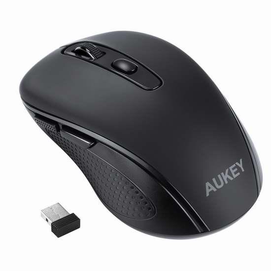 独家:AUKEY KM-W8 2.4GHz 6键高精度无线光电鼠标 13.99加元!
