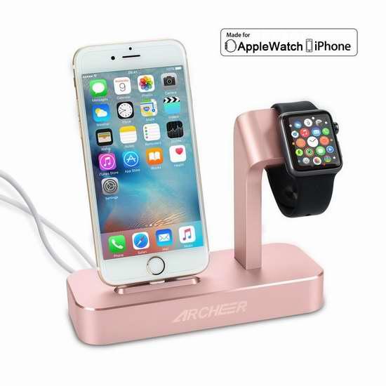 独家:ARCHEER Apple Watch 二合一充电器底座 33.99加元包邮!两色可选!