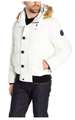 历史新低!Tommy Hilfiger Arctic 男士白色连帽防寒服(M码)2.9折 55.39加元包邮!