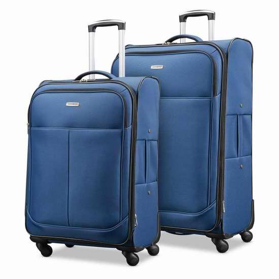 Samsonite 新秀丽 Advance Xlt  20寸&25寸 软壳轻质拉杆行李箱2件套2.6折 132加元包邮!
