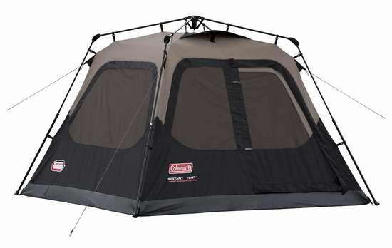 历史新低!Coleman Instant 1分钟快速搭建 4人家庭野营帐篷5.7折 125.04加元包邮!
