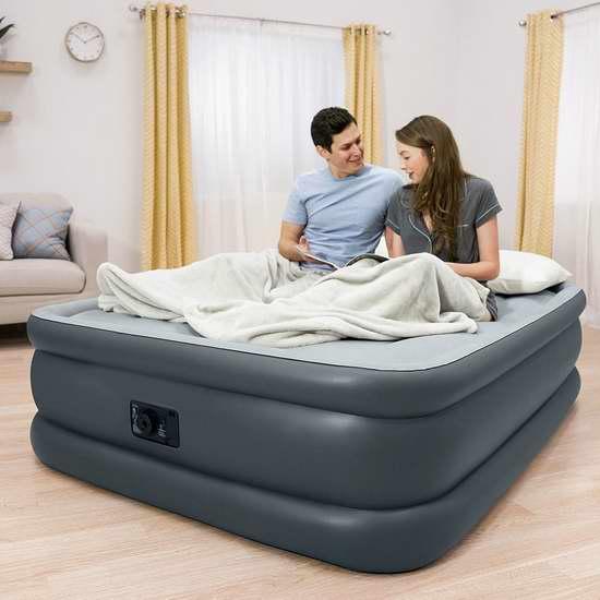历史新低!Intex Dura-Beam系列 20英寸加高Queen充气床 59.89加元包邮!