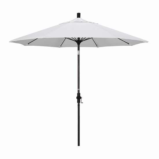 白菜价!历史新低!California Umbrella GSCUF908117-SA04 9英尺豪华可倾斜庭院遮阳伞2.2折 70.45加元清仓并包邮!