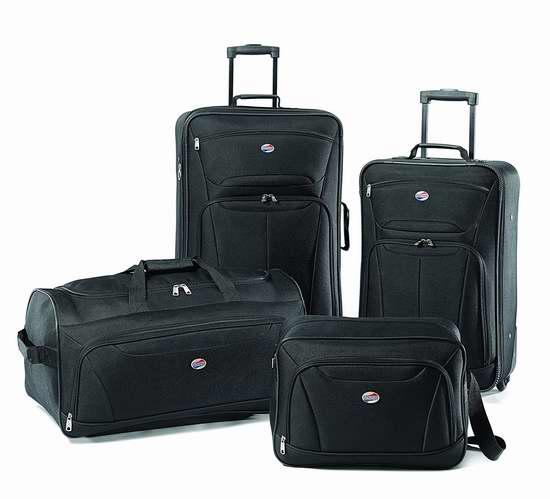 历史新低!American Tourister Fieldbrook II 软壳拉杆行李箱4件套3.6折 81.11加元包邮!两色可选!