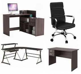 精选106款书桌、电脑桌、办公椅等3折起特卖并包邮!额外再打9折!