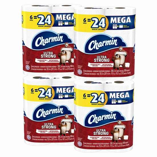 Charmin Ultra 超强/超软 双层卫生纸6卷4件套 20.94加元!两款可选!