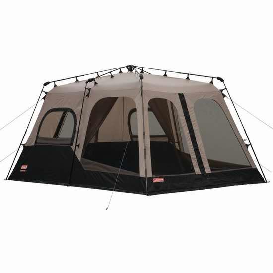 历史新低!Coleman Instant 1分钟快速搭建 8人家庭野营超大帐篷6.2折 256.89加元包邮!
