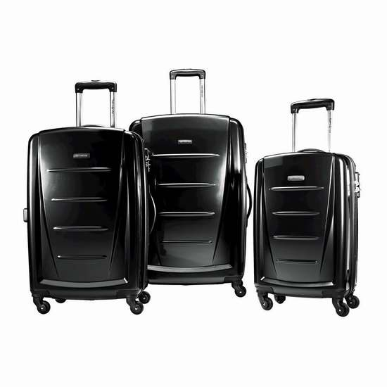 Samsonite 新秀丽 Winfield 2 黑色 硬壳拉杆行李箱3件套2.2折 285.37加元包邮!