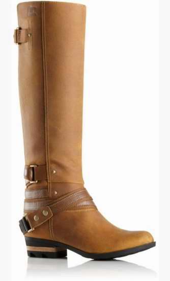Sorel 冰熊 LOLLA 女士真皮防水长筒靴3.2折 127.98加元!