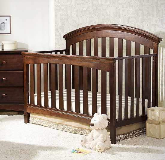 历史新低!Delta Children Bentley 四合一多功能成长型 实木婴儿床 244.3加元包邮!