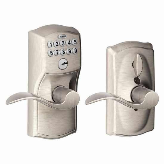 销量冠军!Schlage 西勒奇 FE595 CAM 家用电子密码门锁 5.9折 128.94加元包邮!