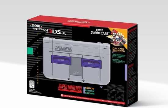 新品上市!Nintendo 任天堂 SNES怀旧主题 New 3DS XL 掌上游戏机 239.99加元包邮!