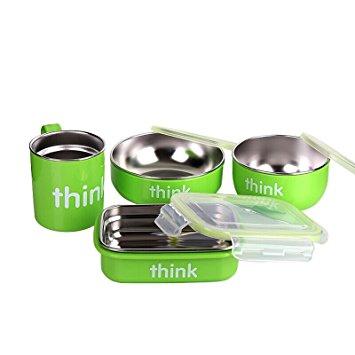 Thinkbaby 220102 Lt 儿童餐具套装 绿色款 42.99加元,原价 58.99加元,包邮