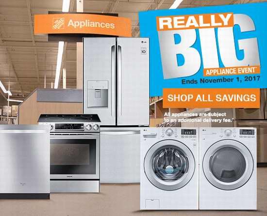 Home Depot 精选上千款冰箱、洗衣机、炉头、抽油烟机、洗碗机、微波炉等厨房大家电特价销售!
