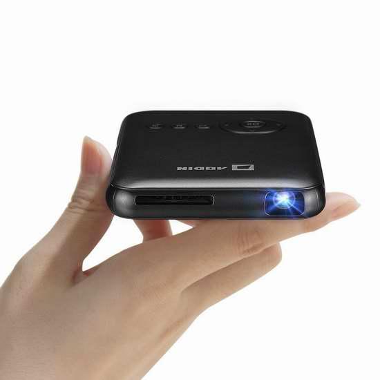 Aodin 迷你超便携 WiFi无线投影仪/家庭影院 241.6-255.2加元限量特卖并包邮!两色可选!