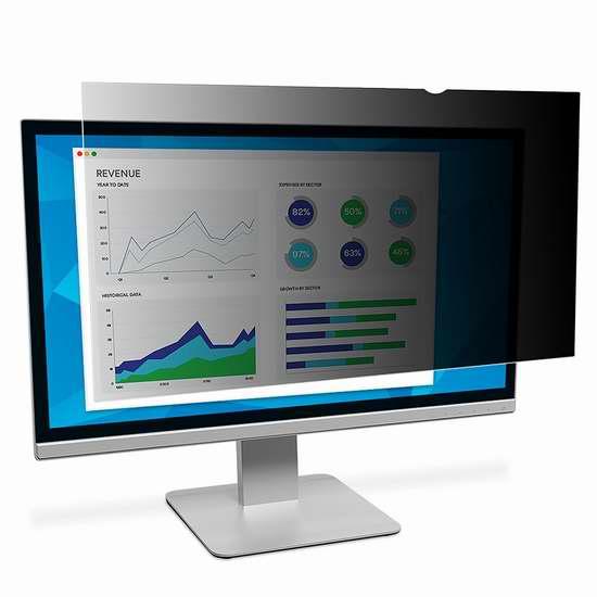 白菜价!历史新低!3M PF21.5W 21.5寸LCD液晶宽屏显示器屏幕保护防窥片贴膜1.8折 25.65加元清仓!