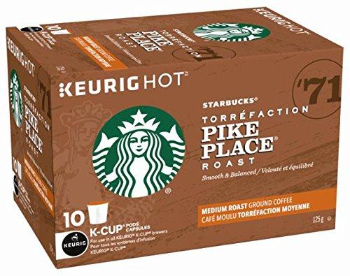 历史最低价!Starbucks 星巴克 Pike Place Roast K-Cup 咖啡胶囊60粒 47.82加元包邮!