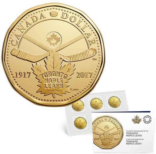 2017多伦多枫叶冰球队100周年纪念币5件套(面值5加元) 5加元销售!