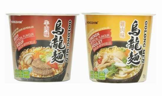 Nongshim 韩国农心 牛肉/鸡肉 乌龙面/方便面 1.17加元!