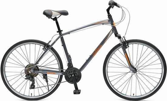 销量冠军!Critical Cycles Barron Hybrid 小号 21速 男式变速自行车/山地车 157.23加元包邮!